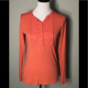 J. Crew Orange Women's Top size M